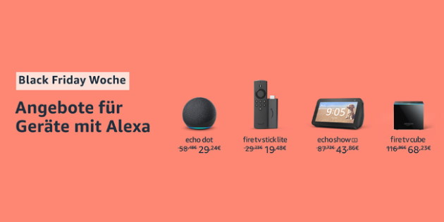 Amazon Black Friday Woche 2020: Alle Fire-TV-Modelle und viele weitere Amazon-Geräte zu Spitzenpreisen!