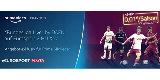 Knaller bei den Prime Video Channels: Eurosport Player für nur 0,01 €