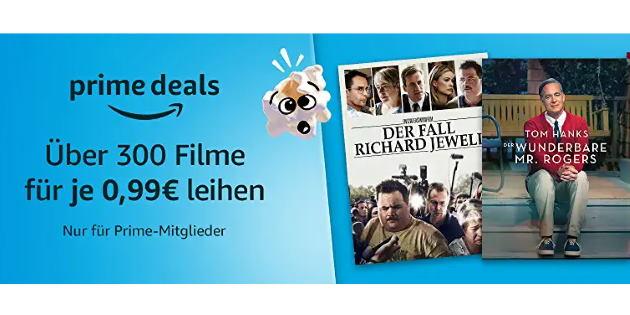 Prime Deals XXL: Über 300 verschiedene Filme für je nur 0,99 Euro leihen