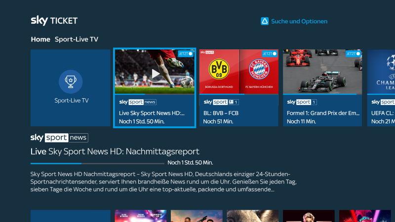 Sky Ticket Sport auf Fire TV und Fire TV Stick
